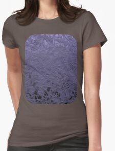 Grunge Relief Floral Abstract Womens Fitted T-Shirt