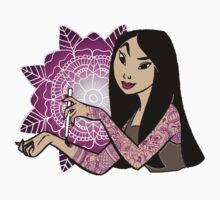 Tattoo Mulan: Purple  Kids Clothes