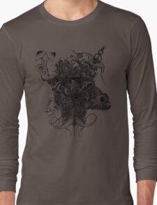 Psilocybinaturearthell Psychedelic Ink Illustration Long Sleeve T-Shirt
