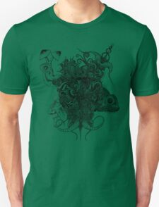 Psilocybinaturearthell Psychedelic Ink Illustration T-Shirt