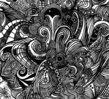 Psilocybinaturearthell Psychedelic Ink Illustration Sticker