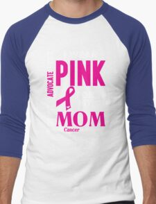 I Wear Pink For My Mom (Breast Cancer Awareness) Men's Baseball ¾ T-Shirt