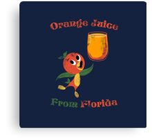 Orange Juice From Florida Canvas Print