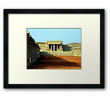 Ancient Courtyard Framed Print
