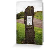 Standing Stone - MacAllan Distillery Greeting Card