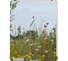 Illustrated summer meadow iPad Case/Skin