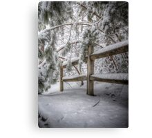 snowy haven Canvas Print