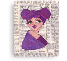 Knit-head Canvas Print