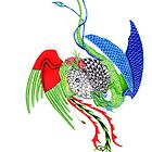tatoo design - dragon and rooster by sandra chapdelaine