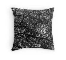 Amazement -Black & White Throw Pillow
