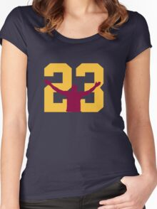 No. 23 Women's Fitted Scoop T-Shirt