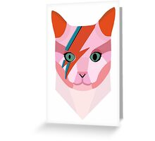 Bowie Cat Greeting Card