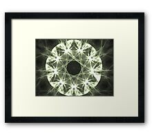 Gray Ice Framed Print