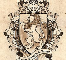 Lion Coat Of Arms Heraldry by helloheath