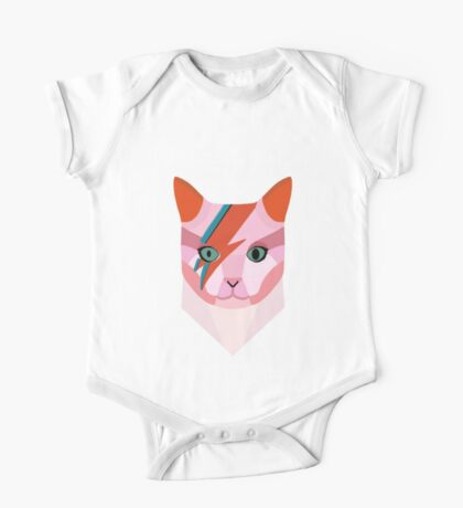 Bowie Cat One Piece - Short Sleeve
