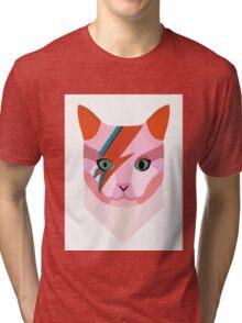Bowie Cat Tri-blend T-Shirt