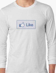 Like Button T-Shirt Long Sleeve T-Shirt
