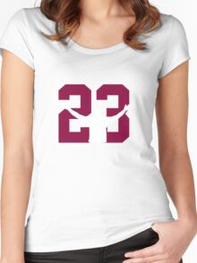 No. 23 (wine and gold) Women's Fitted Scoop T-Shirt