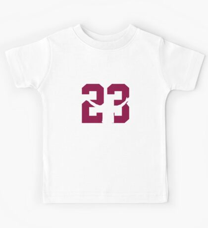 No. 23 (wine and gold) Kids Tee