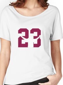 No. 23 (wine and gold) Women's Relaxed Fit T-Shirt