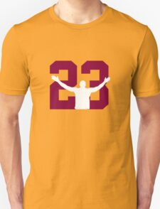 No. 23 (wine and gold) Unisex T-Shirt