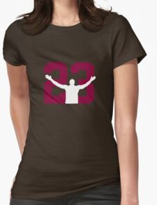 No. 23 (wine and gold) Womens Fitted T-Shirt