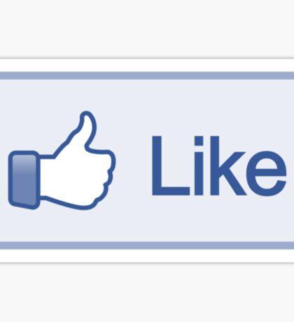Like Button V-Neck Sticker
