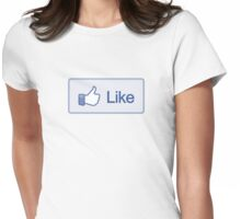 Like Button Womens T-Shirt Womens Fitted T-Shirt