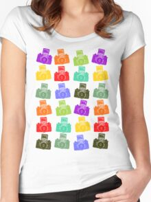Colorful Cameras Women's Fitted Scoop T-Shirt