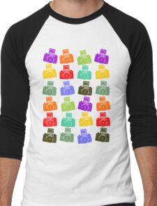 Colorful Cameras Men's Baseball ¾ T-Shirt