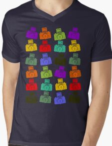 Colorful Cameras Mens V-Neck T-Shirt