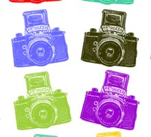 Colorful Cameras Sticker