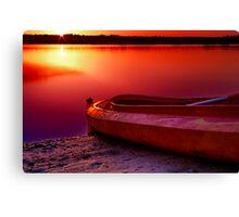 """Riverside Dawn"" Canvas Print"