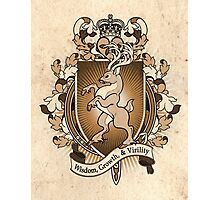 Stag Deer Coat Of Arms Heraldry Photographic Print