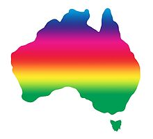 Map of Australia coloured with rainbow by jymartin