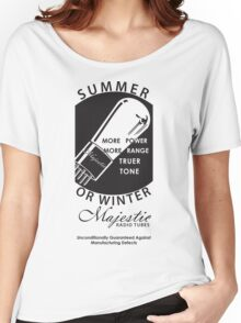 vintage radio tubes ad Women's Relaxed Fit T-Shirt