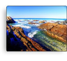 Saltwater Rocks Canvas Print