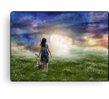 Where The Heavens Meet The Earth Canvas Print