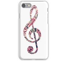 Cherry Blossom Treble Clef Music Note iPhone Case/Skin