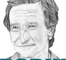 Robin Williams Portrait  by PhilippaDMTW
