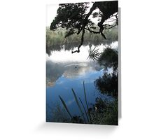 Mirror lake in the Morning - New Zealand  Greeting Card