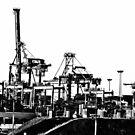 Port Botany cranes by Alexander Meysztowicz-Howen
