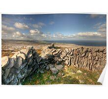 Burren Stone Walls Poster