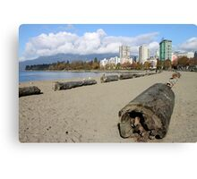 The Sands of English Beach, Vancouver City, Canada  Canvas Print
