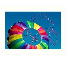 Dancing Kites Art Print