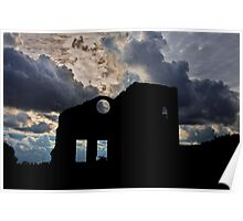 Silhouette Lithgow Blast Furnace Poster