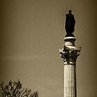 Man on a stick in Lisbon by SLRphotography