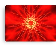 Red Stars Canvas Print