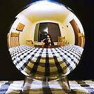 Self portrait in a silver bubble by sindrii