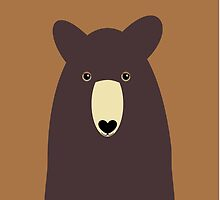 CHOCOLATE BEAR PORTRAIT by Jean Gregory  Evans